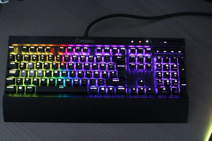 Corsair K70 RGB Beleuchtung