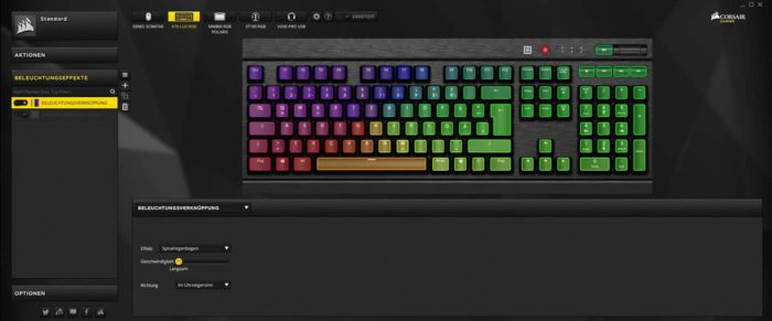 Corsair K70 iCUE Software