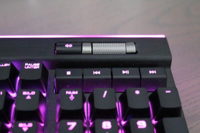 Multimedia Tasten von der Corsair K95 RGB Platinum