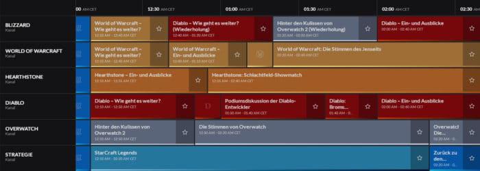 BlizzConline 2021 Zeitplan für Samstag