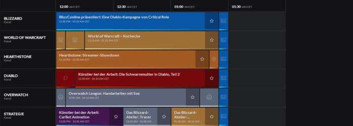 BlizzConline 2021 Zeitplan für Sonntag